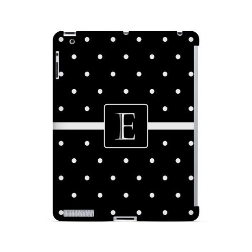 E on Classic Mini Polka Dots - Geeks Designer Line Monogram Series Hard Case for Apple iPad (3rd & 4th Gen.)