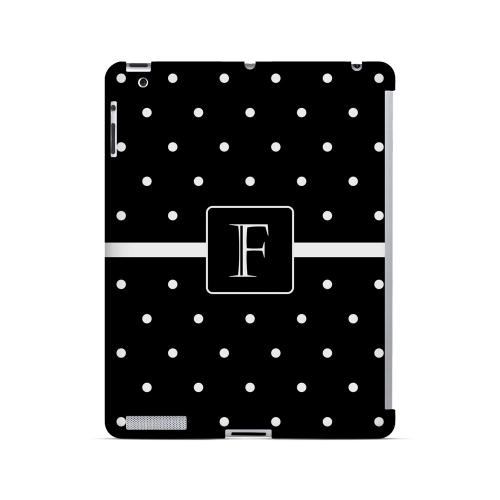 F on Classic Mini Polka Dots - Geeks Designer Line Monogram Series Hard Case for Apple iPad (3rd & 4th Gen.)