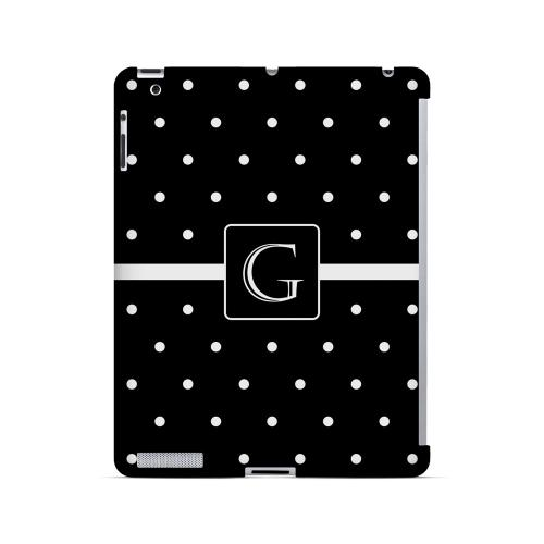 G on Classic Mini Polka Dots - Geeks Designer Line Monogram Series Hard Case for Apple iPad (3rd & 4th Gen.)