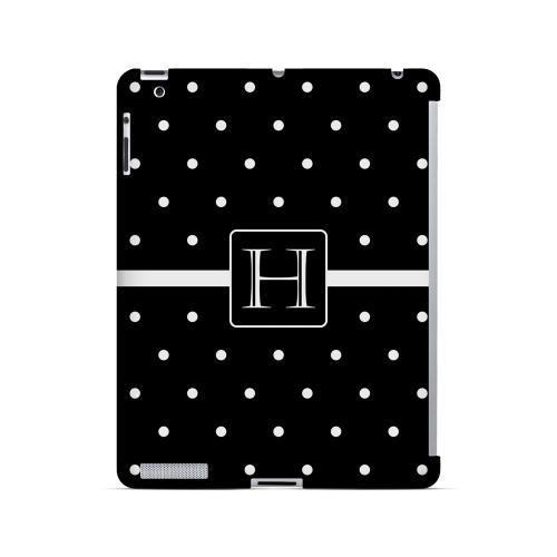 H on Classic Mini Polka Dots - Geeks Designer Line Monogram Series Hard Case for Apple iPad (3rd & 4th Gen.)