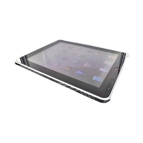 Luxmo Apple iPad (1st Gen) 1st Back Cover Case - Gray/Black Diamond