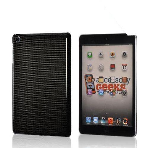 Black/ Gray Carbon Fiber Design Hard Case for Apple iPad Mini