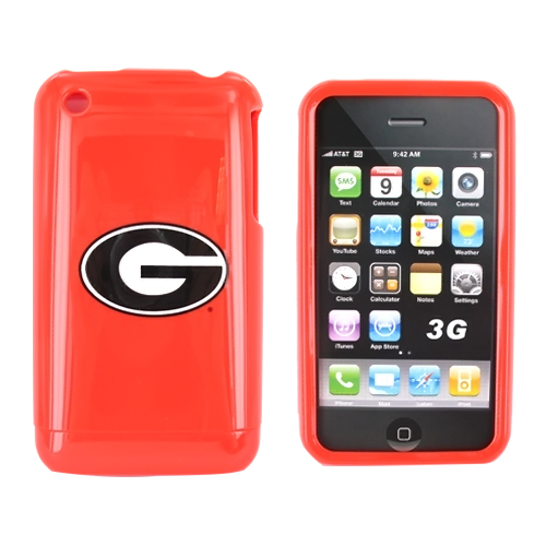 NCAA Licensed Apple iPhone 3Gs 3G Hard Case - Georgia Bulldogs