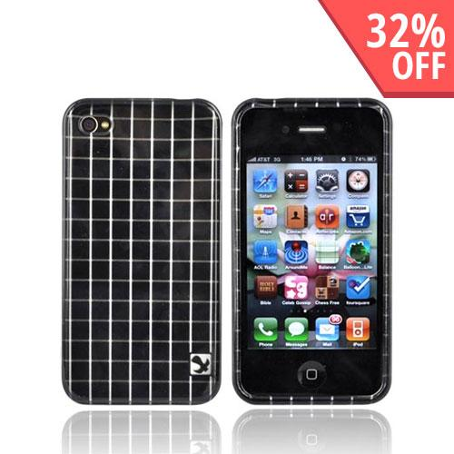Apple Verizon/ AT&T iPhone 4, iPhone 4S Hard Case - Black Squares