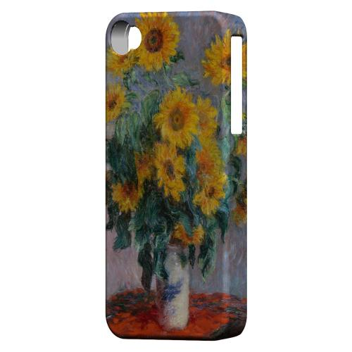 Claude Monet Bouquet of Sunflowers Geeks Designer Line Artist Series Matte Hard Case for Apple iPhone 4/4S