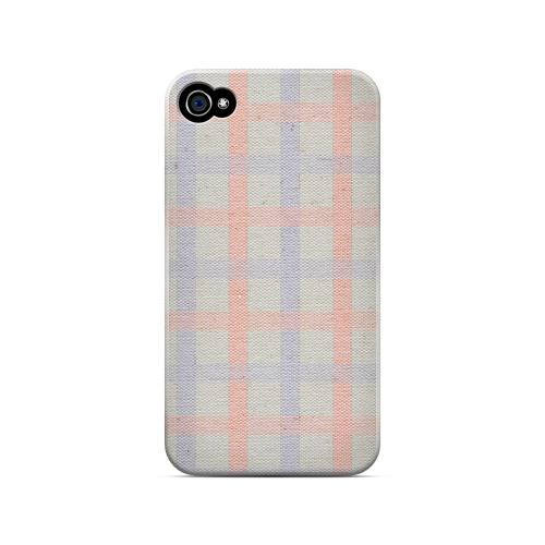 Faint Red/ Blue/ Gray Plaid - Geeks Designer Line Checker Series Matte Case for Apple iPhone 4/4S