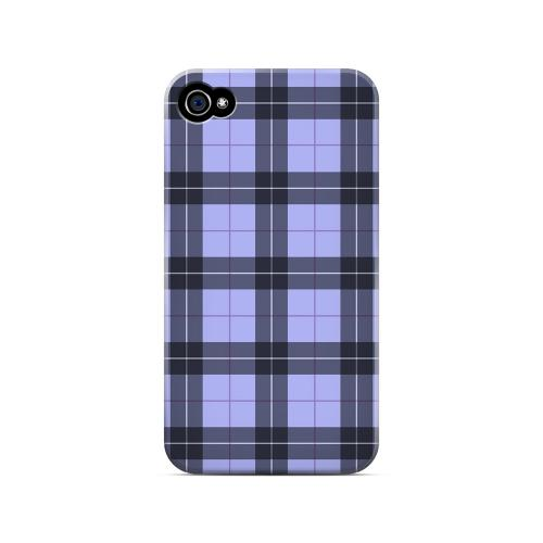 Scottish-Like Plaid in Purple - Geeks Designer Line Checker Series Matte Case for Apple iPhone 4/4S