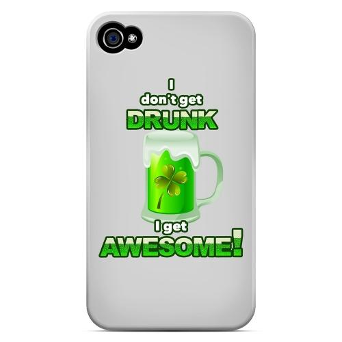 I Get Awesome - Geeks Designer Line Holiday Series Matte Case for Apple iPhone 4/4S