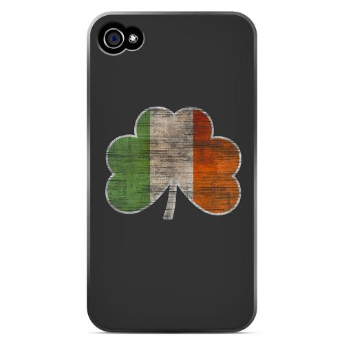 Irish Clover Flag - Geeks Designer Line Holiday Series Matte Case for Apple iPhone 4/4S