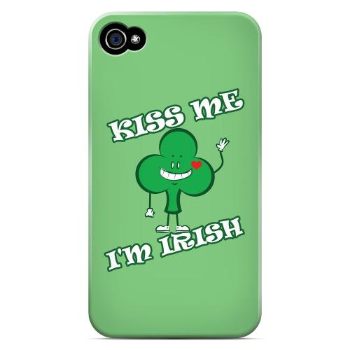 Kiss Me - Geeks Designer Line Holiday Series Matte Case for Apple iPhone 4/4S