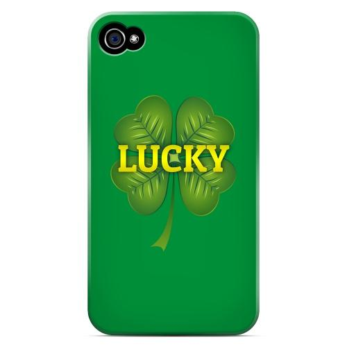 Lucky - Geeks Designer Line Holiday Series Matte Case for Apple iPhone 4/4S