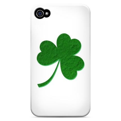 Simple Clover - Geeks Designer Line Holiday Series Matte Case for Apple iPhone 4/4S