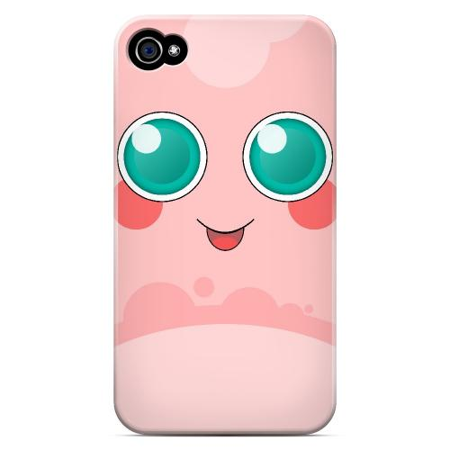 Pigglypoop - Geeks Designer Line Toon Series Matte Case for Apple iPhone 4/4S