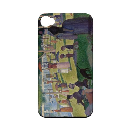 Georges Seurat Sunday Afternoon on the Island of La Grand Jatte Geeks Designer Line Artist Series Matte Hard Case for Apple iPhone 4/4S