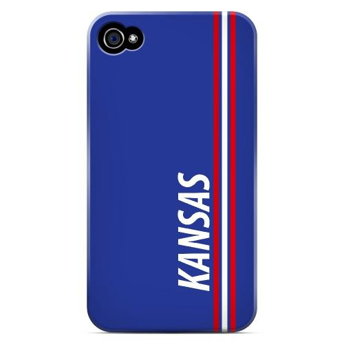 Kansas - Geeks Designer Line March Madness Series Matte Case for Apple iPhone 4/4S