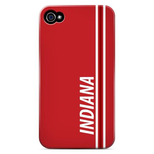 Indiana - Geeks Designer Line March Madness Series Matte Case for Apple iPhone 4/4S