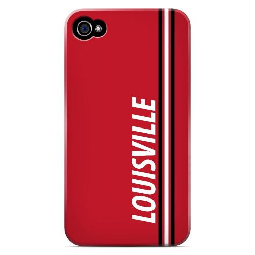 Louisville - Geeks Designer Line March Madness Series Matte Case for Apple iPhone 4/4S