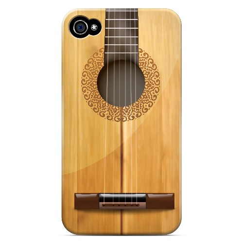 Acoustic Guitar - Geeks Designer Line Music Series Matte Case for Apple iPhone 4/4S
