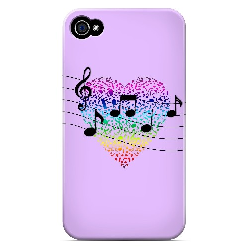 Earful of Color - Geeks Designer Line Music Series Matte Case for Apple iPhone 4/4S