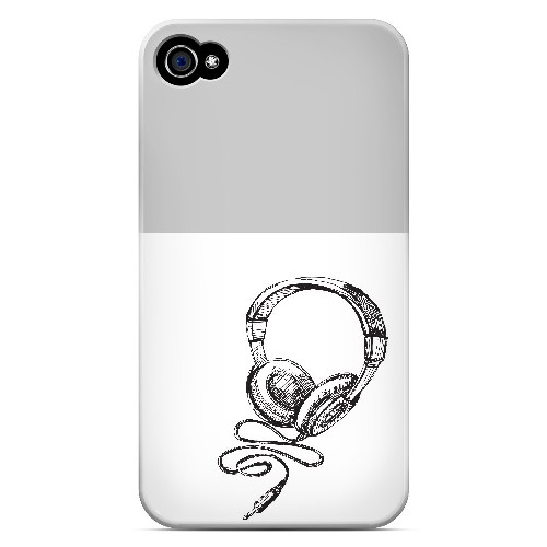 Head Bobbing Gray - Geeks Designer Line Music Series Matte Case for Apple iPhone 4/4S