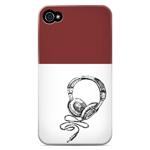 Head Bobbing Maroon - Geeks Designer Line Music Series Matte Case for Apple iPhone 4/4S