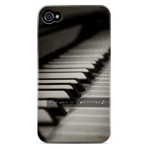 Music Speaks - Geeks Designer Line Music Series Matte Case for Apple iPhone 4/4S