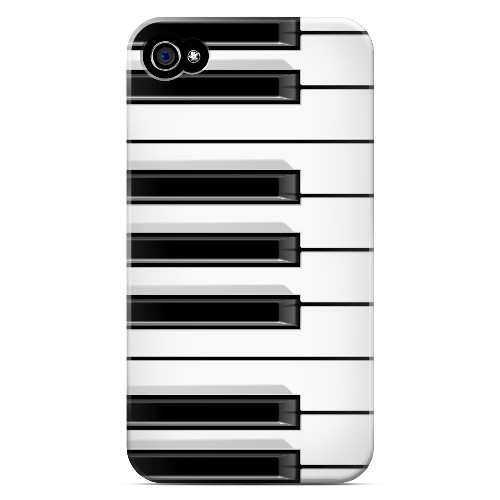 Piano Keys - Geeks Designer Line Music Series Matte Case for Apple iPhone 4/4S