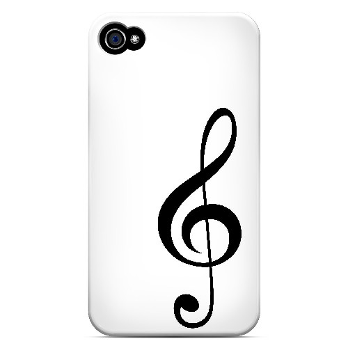 Simple Treble Clef - Geeks Designer Line Music Series Matte Case for Apple iPhone 4/4S