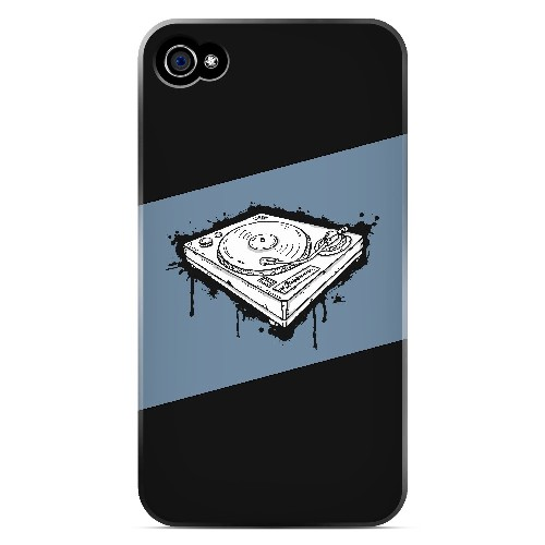 Wheel of Steel Blue - Geeks Designer Line Music Series Matte Case for Apple iPhone 4/4S