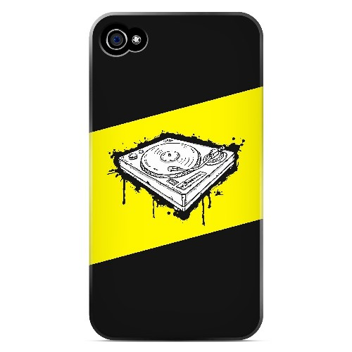 Wheel of Steel Yellow - Geeks Designer Line Music Series Matte Case for Apple iPhone 4/4S