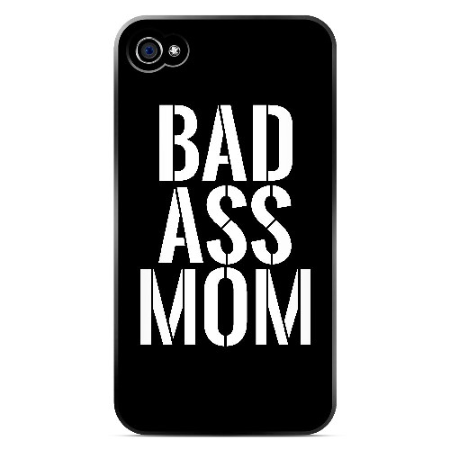 Bad Ass Mom - Geeks Designer Line Mom Series Matte Case for Apple iPhone 4/4S