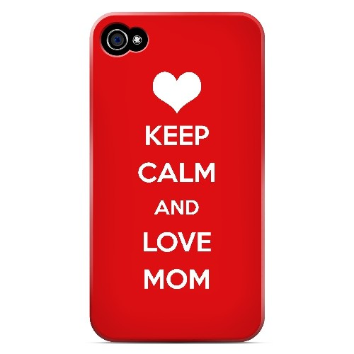 Love Mom - Geeks Designer Line Mom Series Matte Case for Apple iPhone 4/4S