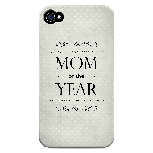 Mom of the Year - Geeks Designer Line Mom Series Matte Case for Apple iPhone 4/4S
