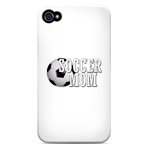 Soccer Mom - Geeks Designer Line Mom Series Matte Case for Apple iPhone 4/4S