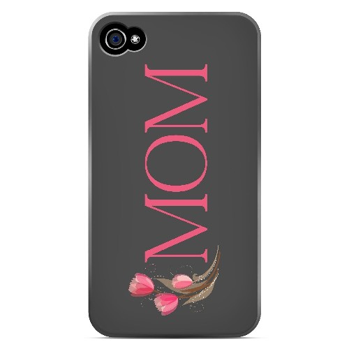 Tulips Mom - Geeks Designer Line Mom Series Matte Case for Apple iPhone 4/4S