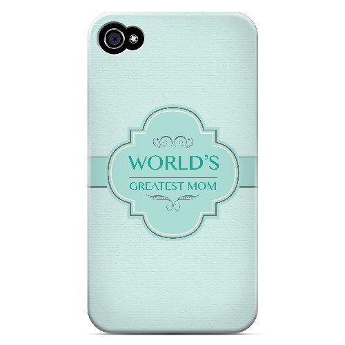 Vintage World's Greatest Mom - Geeks Designer Line Mom Series Matte Case for Apple iPhone 4/4S