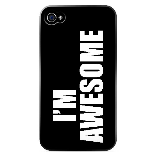 Awesome - Geeks Designer Line Humor Series Matte Case for Apple iPhone 4/4S