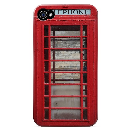 English Telephone Booth - Geeks Designer Line Humor Series Matte Case for Apple iPhone 4/4S