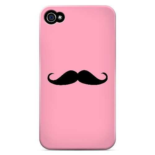 Mustache Pink - Geeks Designer Line Humor Series Matte Case for Apple iPhone 4/4S