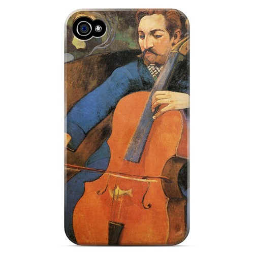 The Cellist by Paul Gauguin - Geeks Designer Line Artist Series Matte Case for Apple iPhone 4/4S
