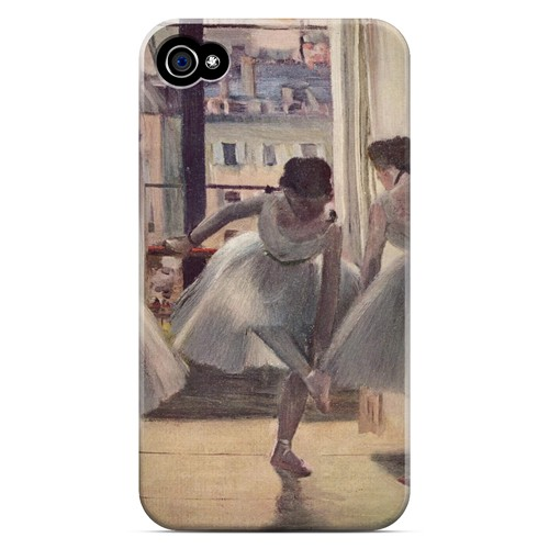 Three Dancers in an Exercise Hall by Edgar Degas - Geeks Designer Line Artist Series Matte Case for Apple iPhone 4/4S