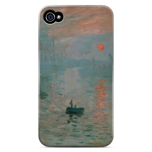 Impression Sunrise by Claude Monet - Geeks Designer Line Artist Series Matte Case for Apple iPhone 4/4S