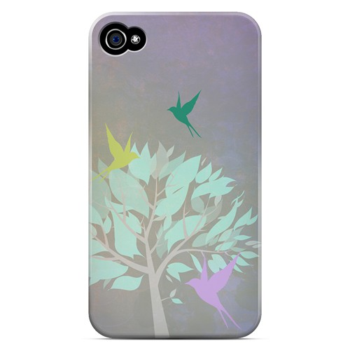 Swallow Flight - Geeks Designer Line Spring Series Matte Case for Apple iPhone 4/4S
