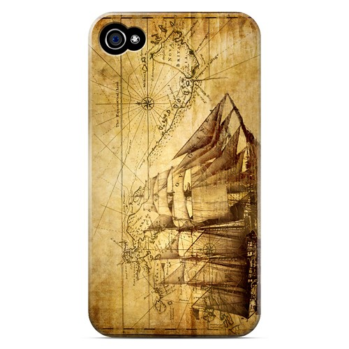 British Sea Power - Geeks Designer Line Map Series Matte Case for Apple iPhone 4/4S