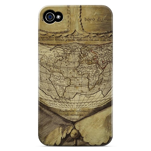 Ancient Map Head - Geeks Designer Line Map Series Matte Case for Apple iPhone 4/4S