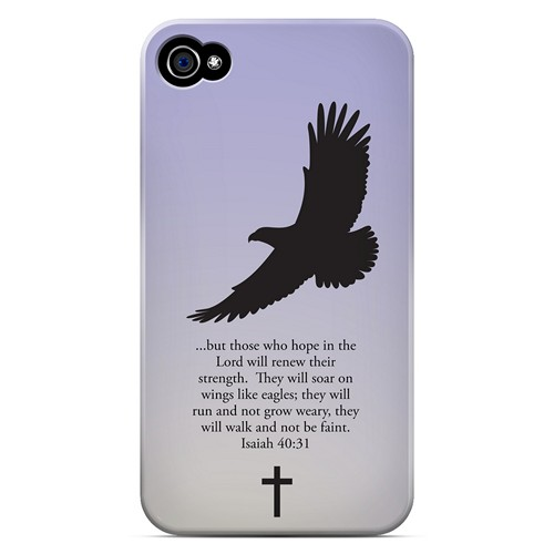 Isaiah 40:31 - Sleepy Grape - Geeks Designer Line Bible Series Matte Case for Apple iPhone 4/4S