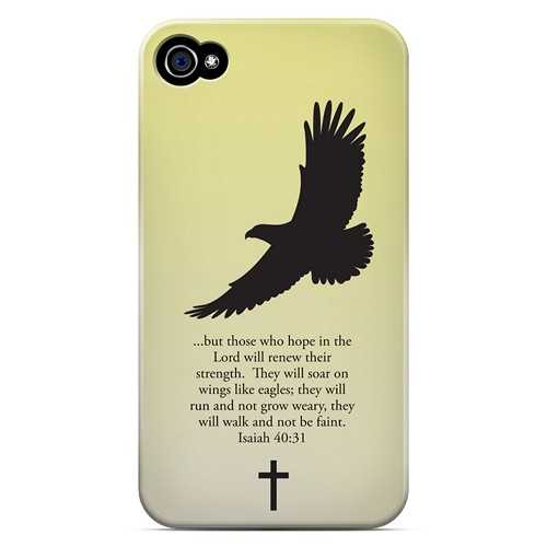 Isaiah 40:31 - Sunset Yellow - Geeks Designer Line Bible Series Matte Case for Apple iPhone 4/4S
