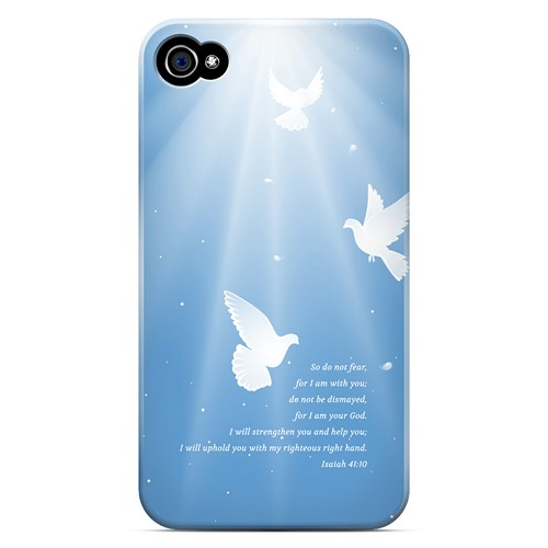 Isaiah 41:10 - Geeks Designer Line Bible Series Matte Case for Apple iPhone 4/4S