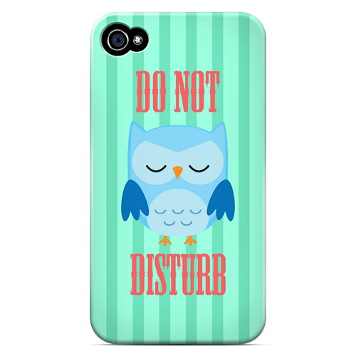Do Not Disturb - Geeks Designer Line Owl Series Matte Case for Apple iPhone 4/4S