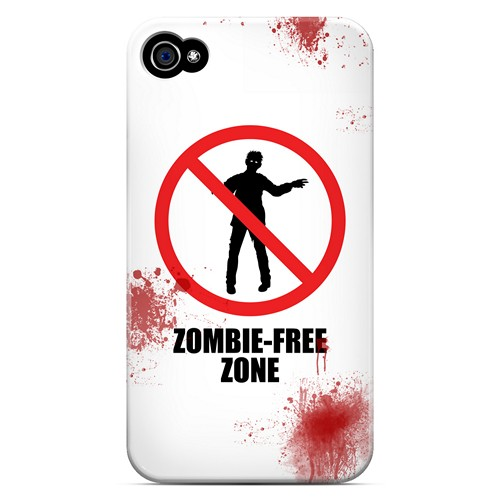 Zombie-Free Zone - Geeks Designer Line Apocalyptic Series Matte Case for Apple iPhone 4/4S